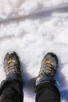 Caminhando na neve