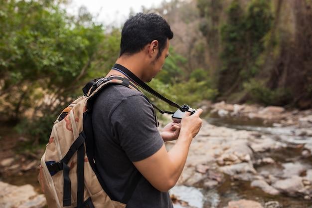 Caminhante com câmera