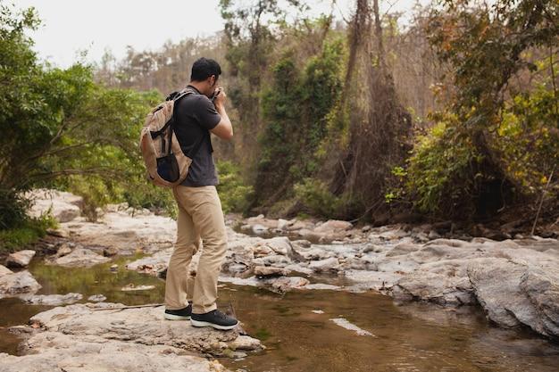 Caminhante, levando, foto