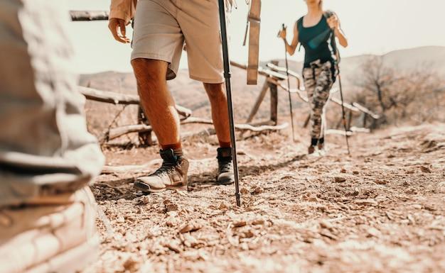 Caminhantes na montanha
