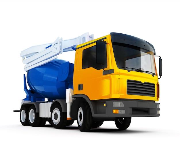 Caminhão betoneira em branco