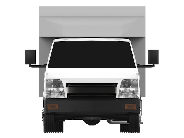 Caminhão branco pequeno