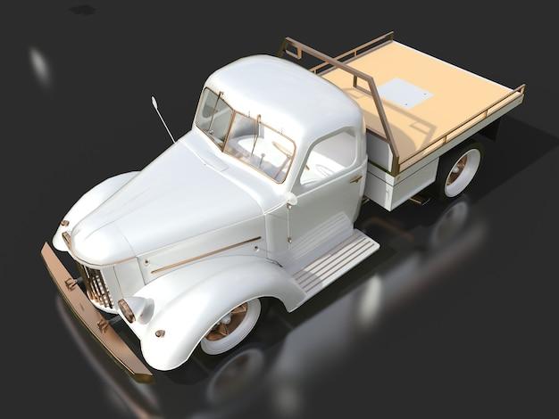Caminhão hotrod. renderização 3d.