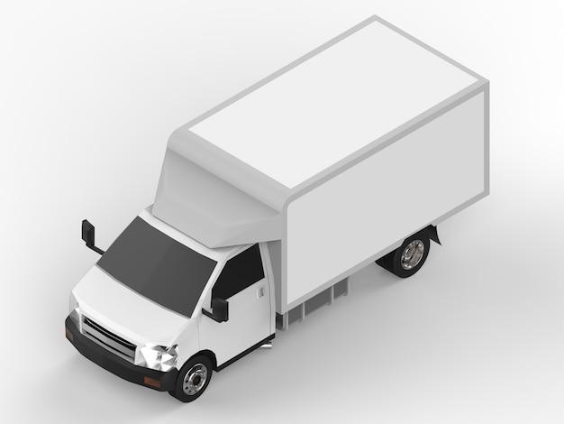 Caminhão pequeno branco
