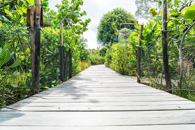 Caminho a pé no jardim