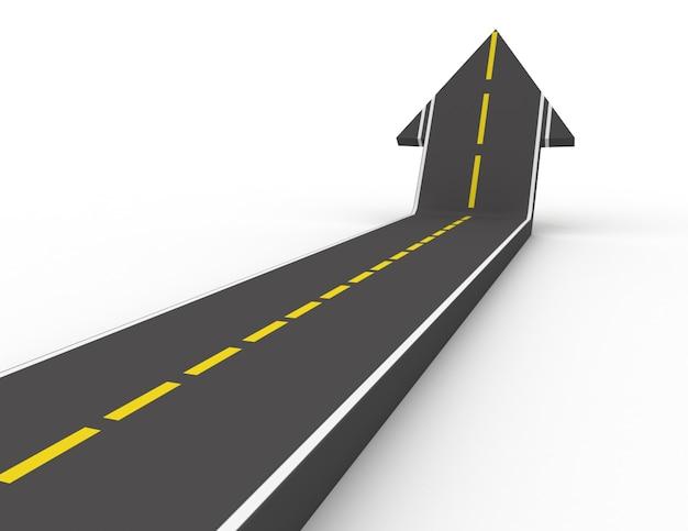 Caminho para o sucesso em fundo branco