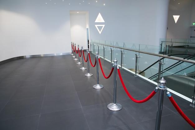 Caminho para o sucesso no tapete vermelho (corda barreira)