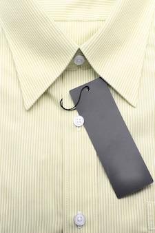 Camisa amarela de negócios