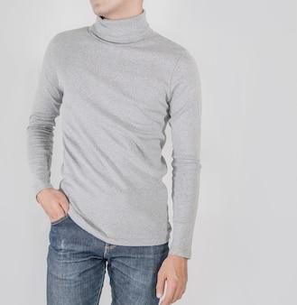 Camisa de design e conceito de pessoas mock-se modelo de design de impressão