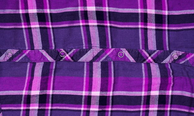 Camisa xadrez com textura de tecido útil como pano de fundo