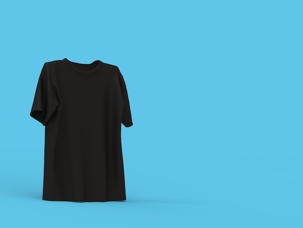 Camiseta preta em pé