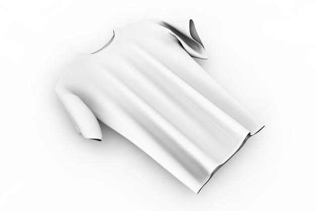 Camisetas em um fundo neutro na frente e no verso ilustração 3d renderização em 3d