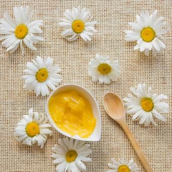 Camomilas e manteiga de karité