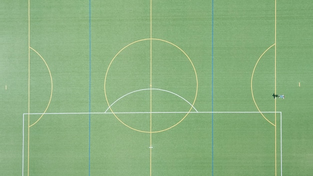 Campo de futebol ou campo de futebol gramado verde para criar jogo de esporte.