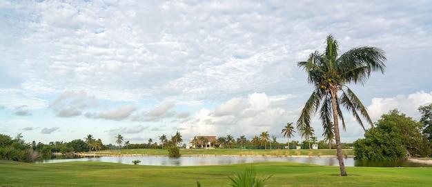 Campo de golfe kukulcan blvd em cancun, méxico resort de luxo jogo