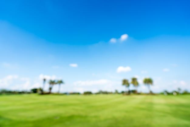 Campo de golfe ou campo verde desfocar o fundo