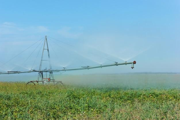 Campo de irrigação do sistema de irrigação