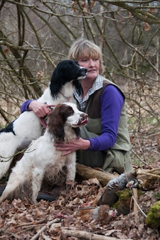 Campo rindo canin caça cão riso