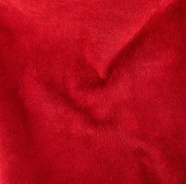 Camurça vermelha brilhante de couro