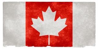 Canada bandeira do grunge invertido