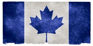 Canadá grunge bandeira azul cinza