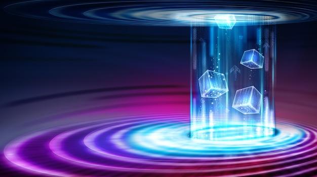 Canal de transmissão de dados. transferência de big data. movimento do fluxo de dados digitais.