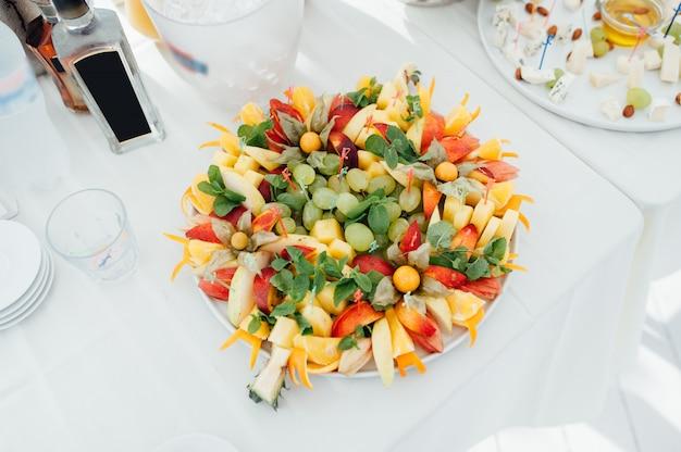Canapés de vegetais deliciosos