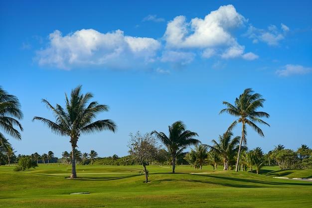 Cancun méxico kukulcan blvd campo de golfe