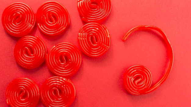 Candy espirais em vermelho