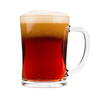 Caneca de cerveja vermelha