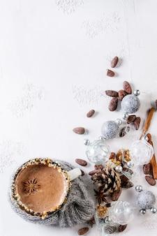 Caneca de chocolate quente