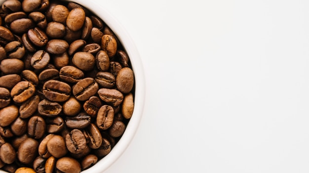 Caneca de grãos de café