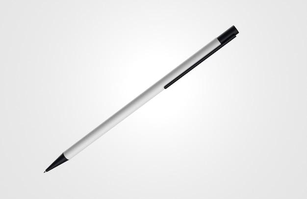 Caneta 3d branca e preta minimalista