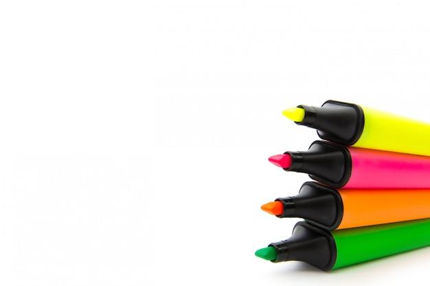 Caneta de destaque colorida