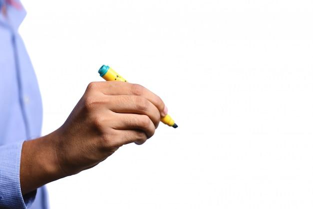 Caneta marcador na mão