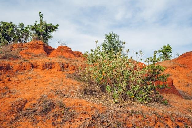 Cânion vermelho perto de mui ne sul do vietnã