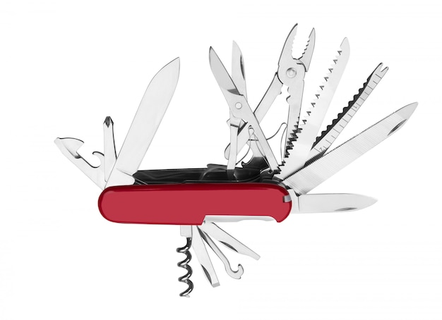 Canivete vermelho multi-ferramenta