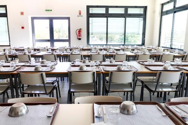 Cantina da escola vazia