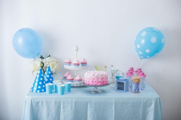 Canto doce de uma festa de aniversário