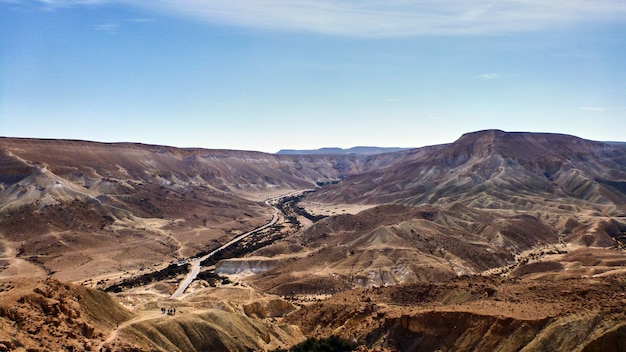 Canyon ein avdat no deserto de negev. israel.