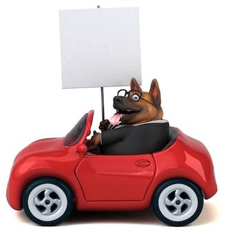 Cão pastor alemão - ilustração 3d