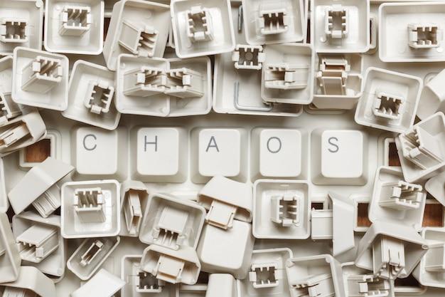 Caos de palavras de um monte de chaves de computador