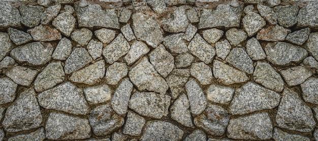 Capa de banner ou página da web da parede de pedra, padrão de textura de tijolos antigos para decoração