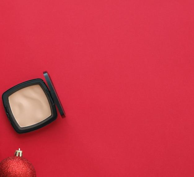 Capa de blog de moda de marca cosmética e maquiagem de conceito de glamour feminino e produtos cosméticos para ...