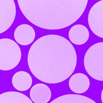Capa sem costura com pano de fundo círculos roxos
