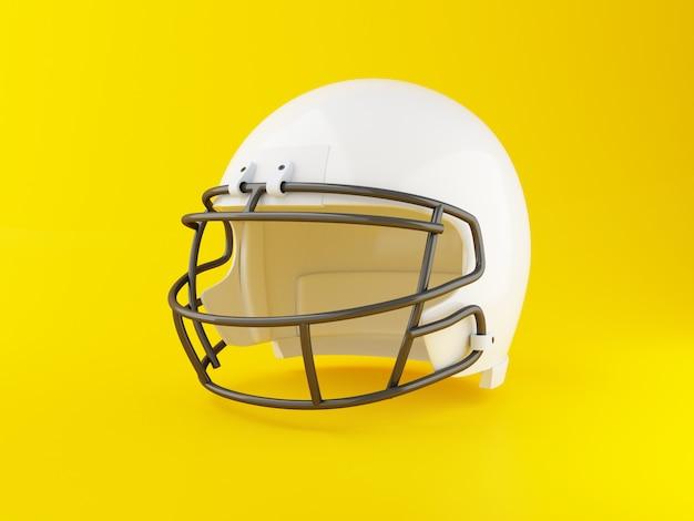Capacete de futebol americano 3d. conceito de esporte.