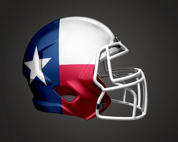 Capacete de futebol do texas