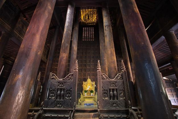 Capela no templo em mianmar