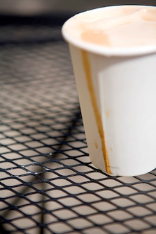 Cappuccino para viagem sem tampa