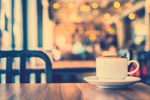 Cappuccino preto decoração bebida imagem